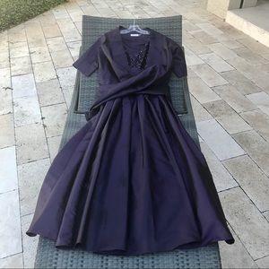 Calvin Klein Long Formal Dress with Wrap